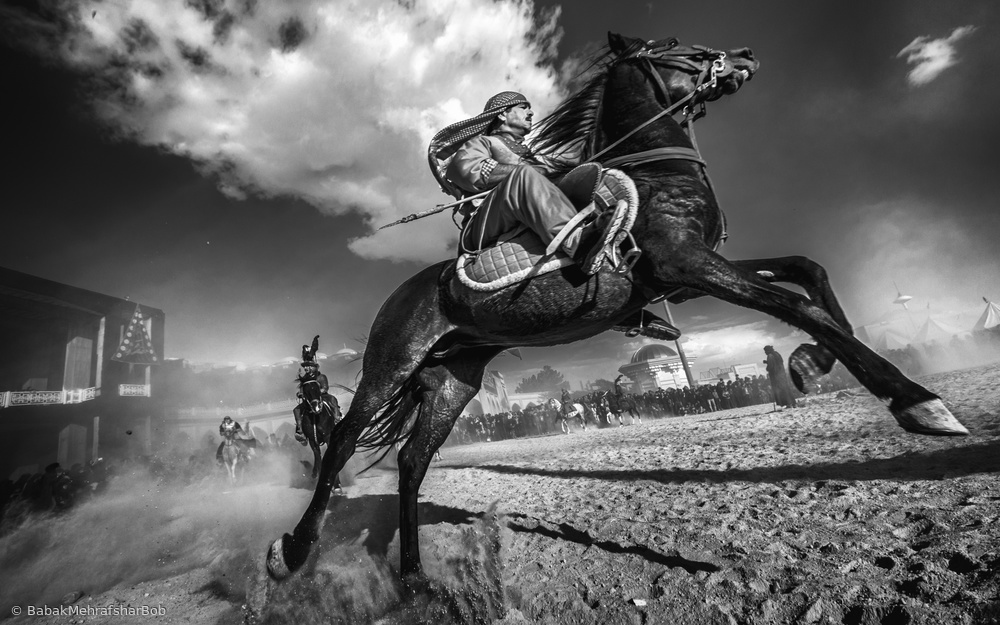 View this piece of fine art photography titled fighter and horse by Martin Steeb