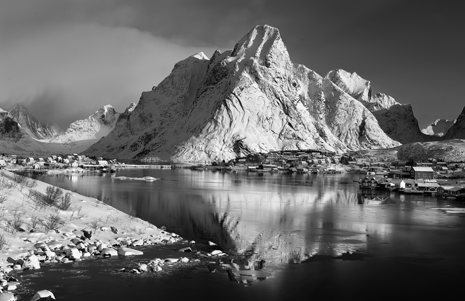 A piece of fine art art photography titled Reine Fjord by Nicola Molteni
