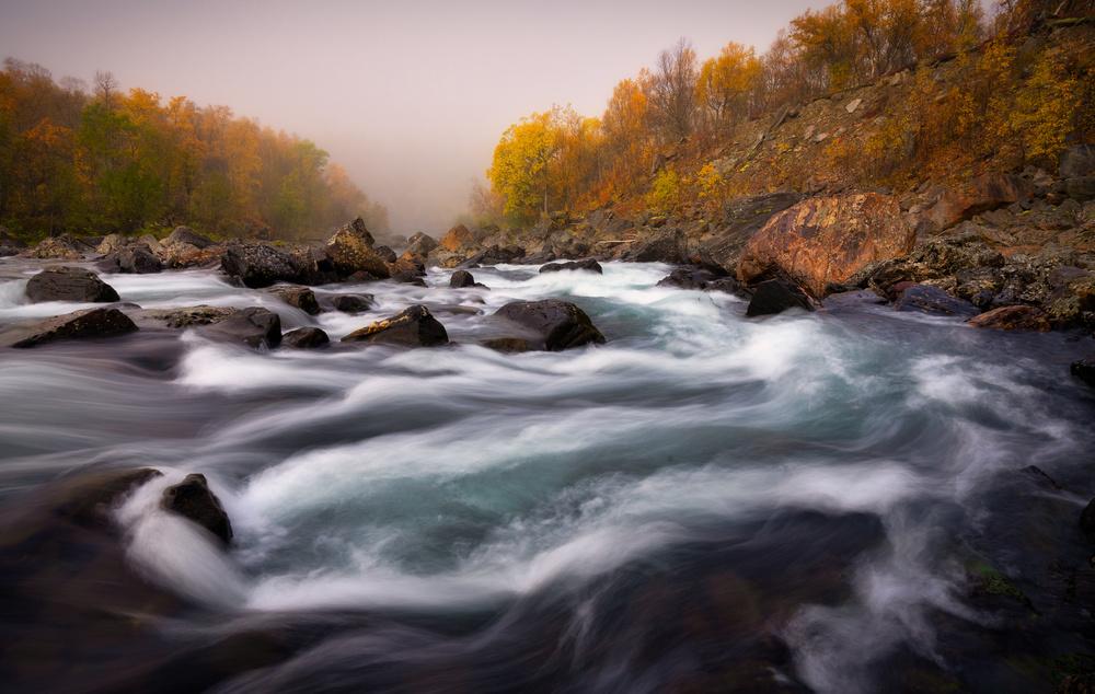 A piece of fine art art photography titled Signaldalelva River by Sus Bogaerts