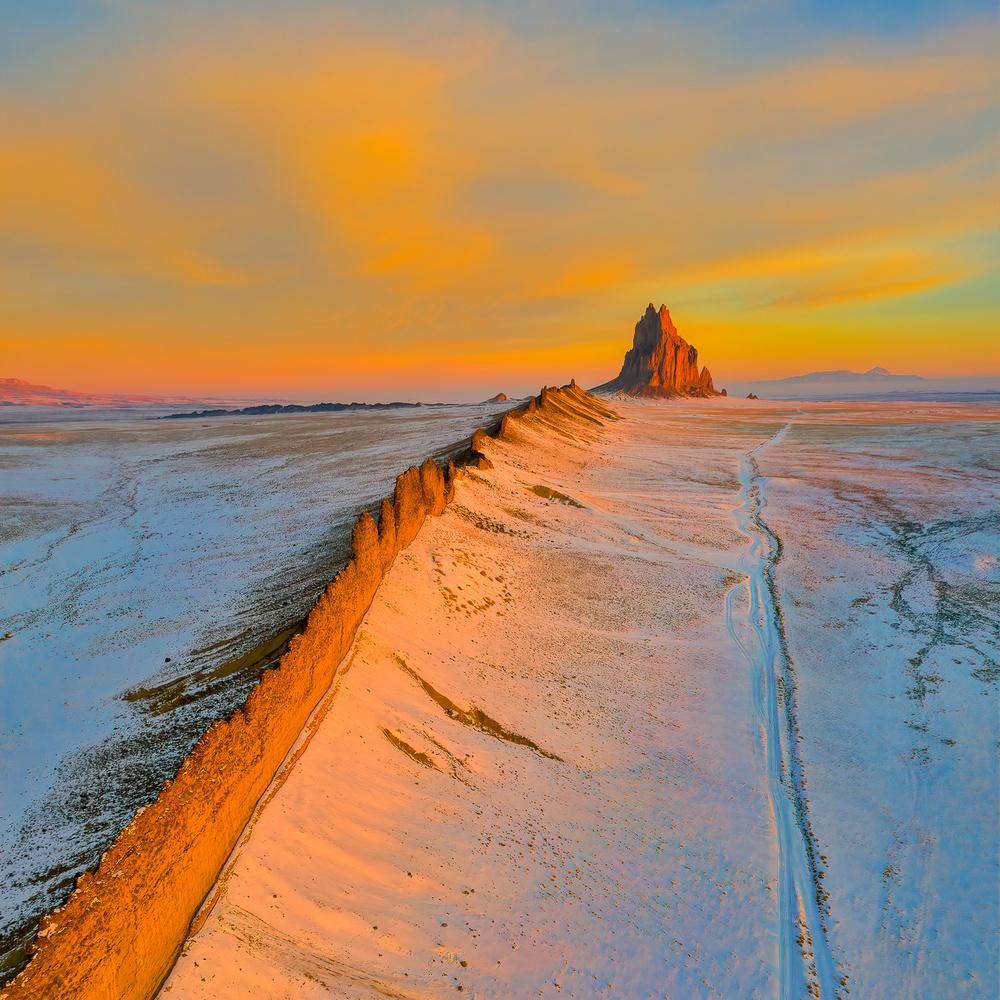 A piece of fine art art photography titled The Golden Wall by John Fan
