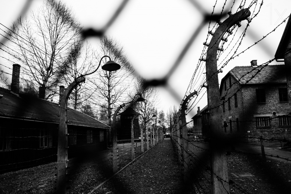 A piece of fine art art photography titled Behind the Fences - Auschwitz I by Javier Palacios Prieto