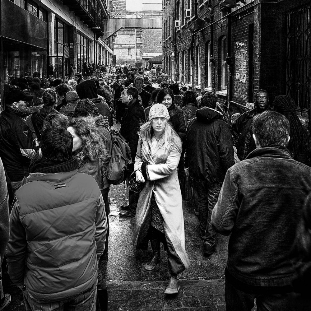 A piece of fine art art photography titled East End, London, Friday Afternoon by Mike Gal