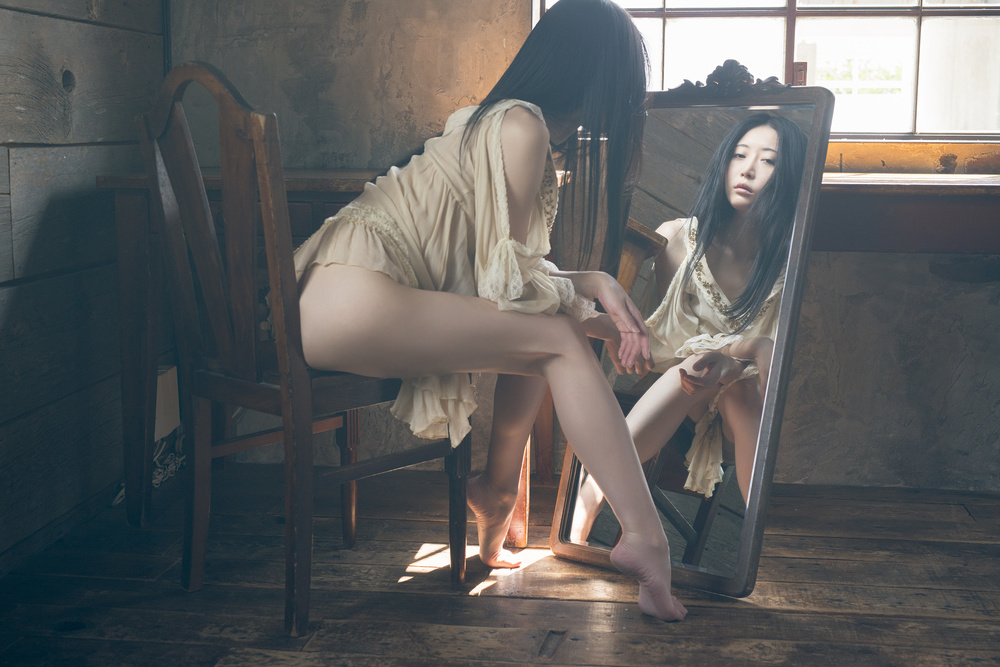 A piece of fine art art photography titled Reflection by Shuji Kobayashi