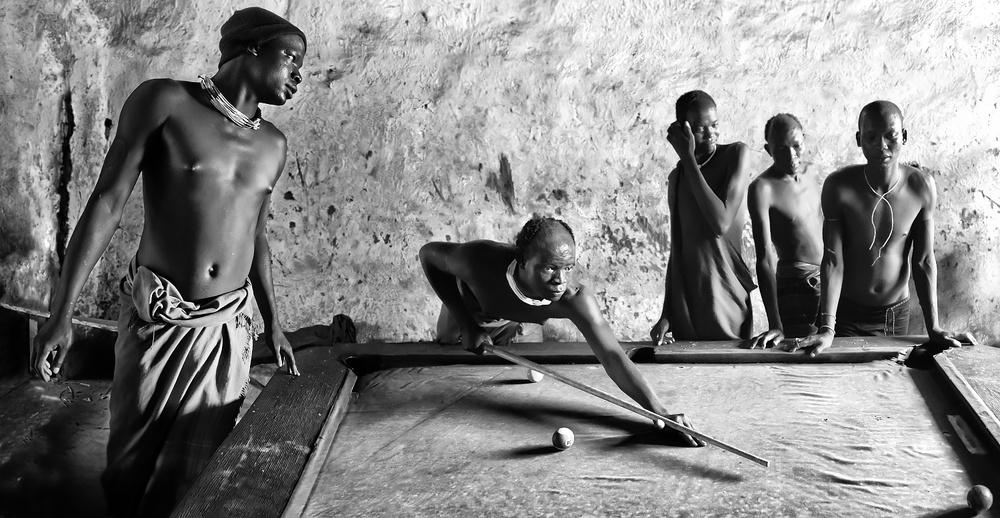 A piece of fine art art photography titled Billiards by Juan Luis Duran