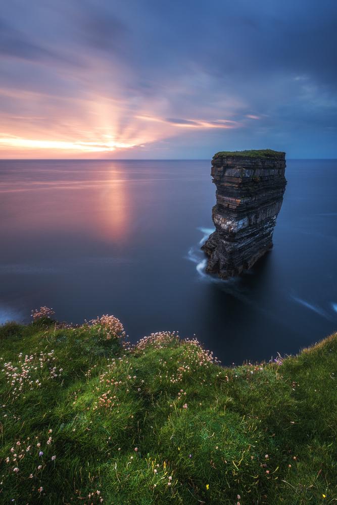 A piece of fine art art photography titled Ireland - Downpatrick Head by Jean Claude Castor