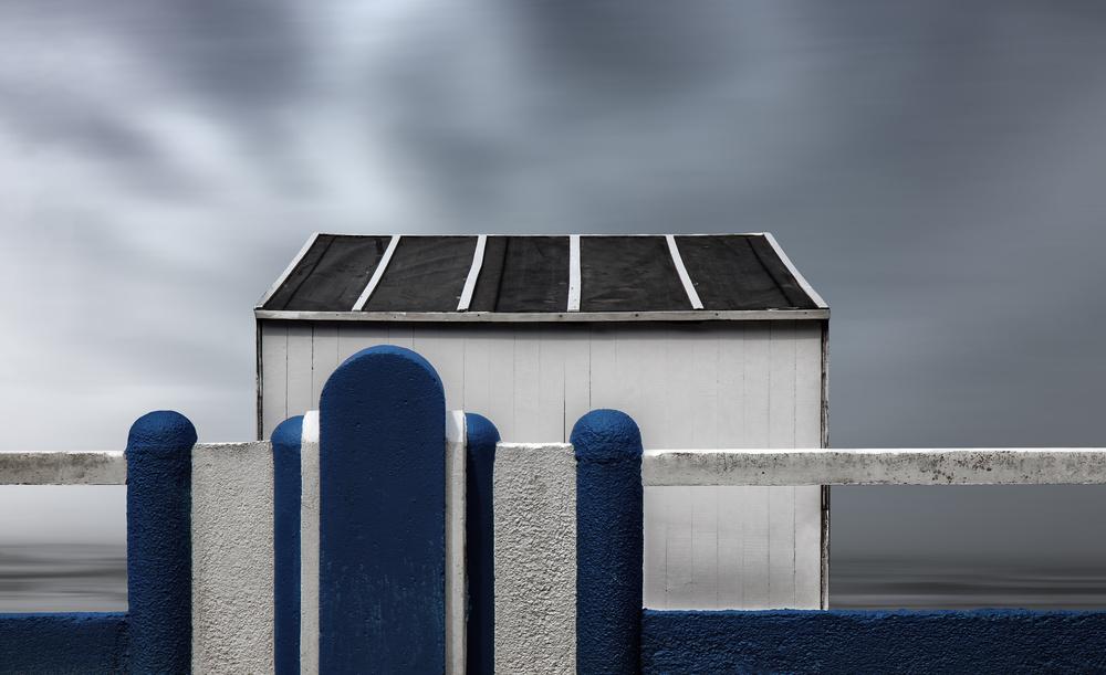 A piece of fine art art photography titled Beach Box by Gilbert Claes