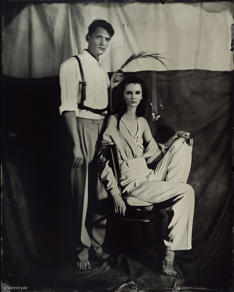Kate&Alex,Tintype 20x25cm ,Scan