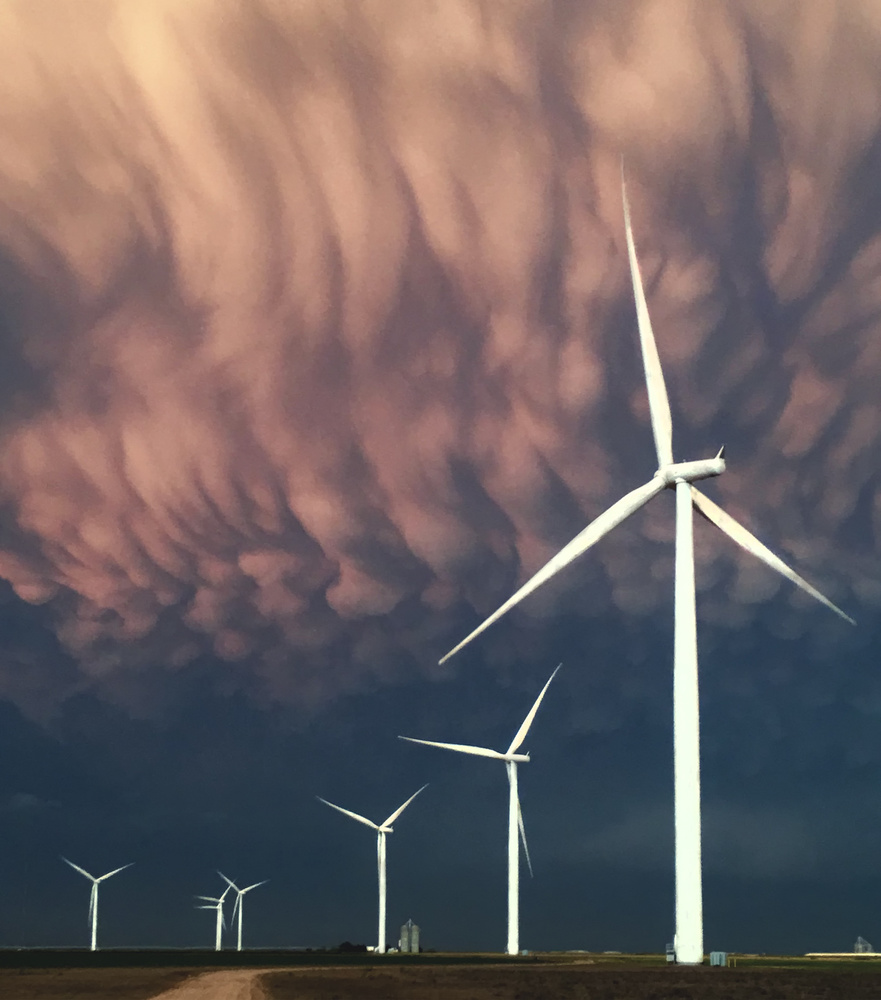 A piece of fine art art photography titled Harvesting the Wind by Rob Darby