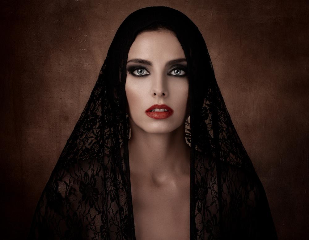 A piece of fine art art photography titled Black Veil!!! by Alfredo Sanchez