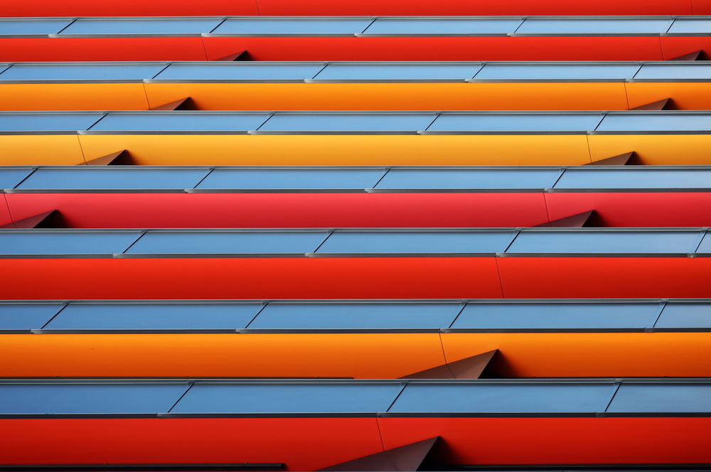 A piece of fine art art photography titled Colour Stripes by Hans-Wolfgang Hawerkamp