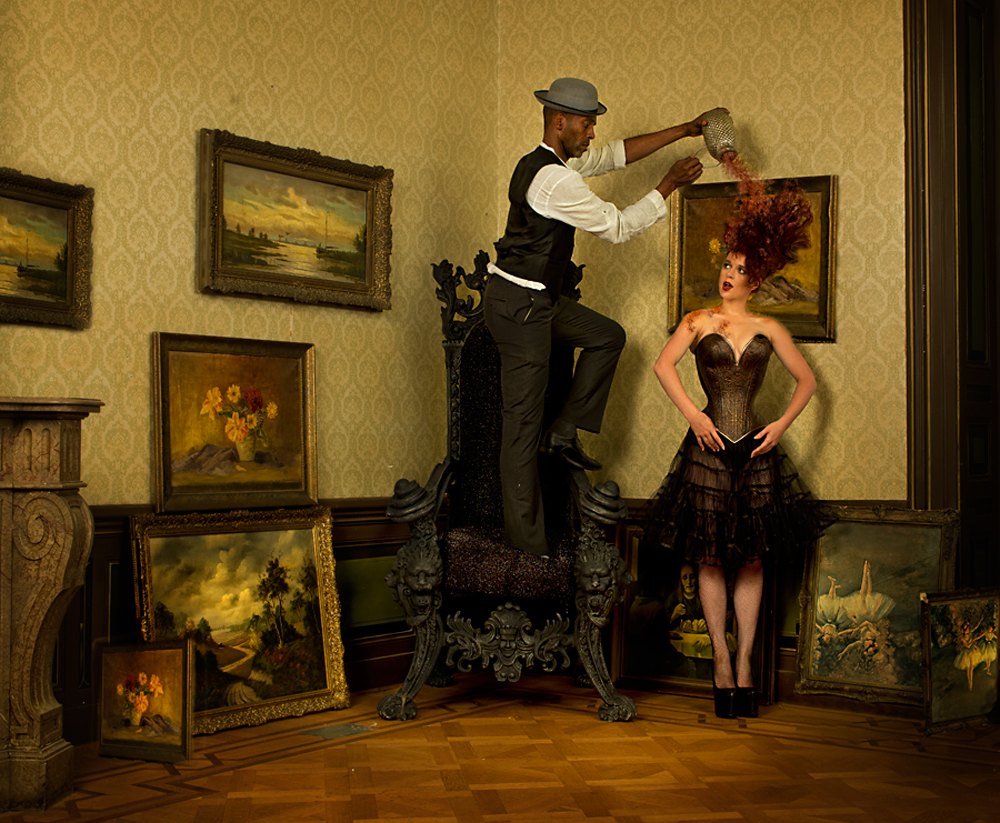 A piece of fine art art photography titled In the Gallery by Peter Kemp