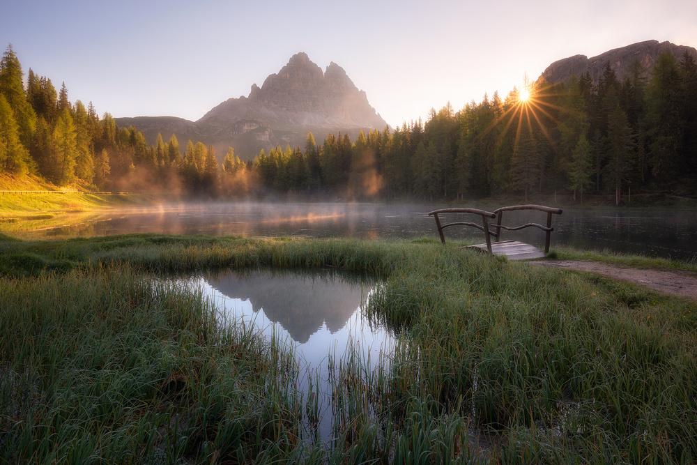 A piece of fine art art photography titled Morning Silence by Daniel Fleischhacker