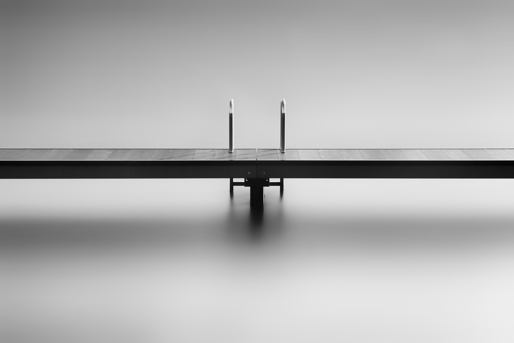 A piece of fine art art photography titled Study of a Bathing Jetty by Frank Peters