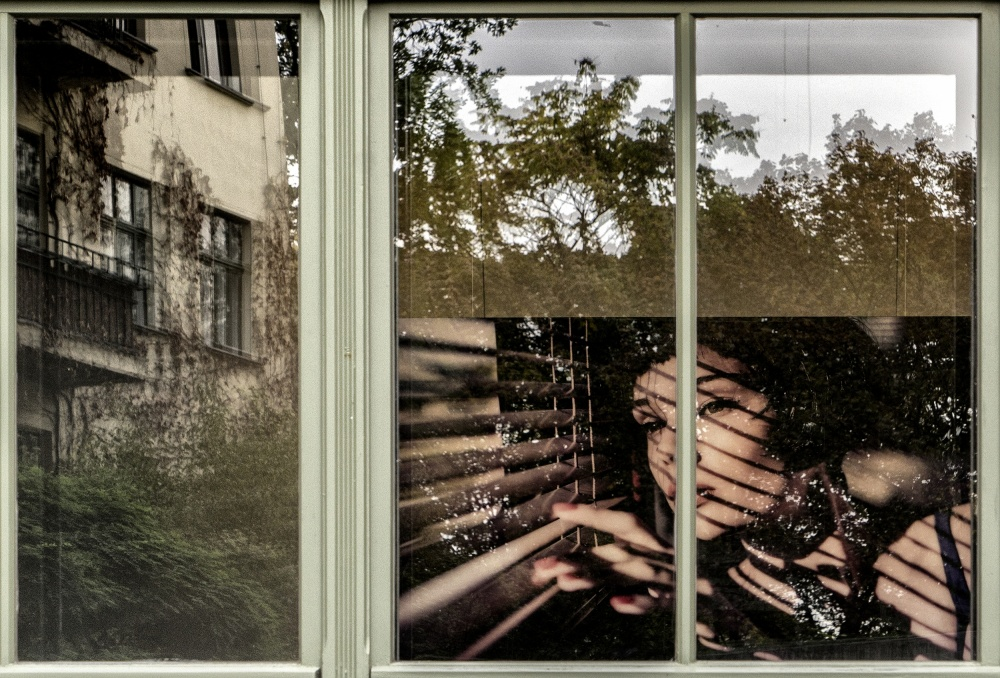 A piece of fine art art photography titled Multiple Window by Susanne Stoop