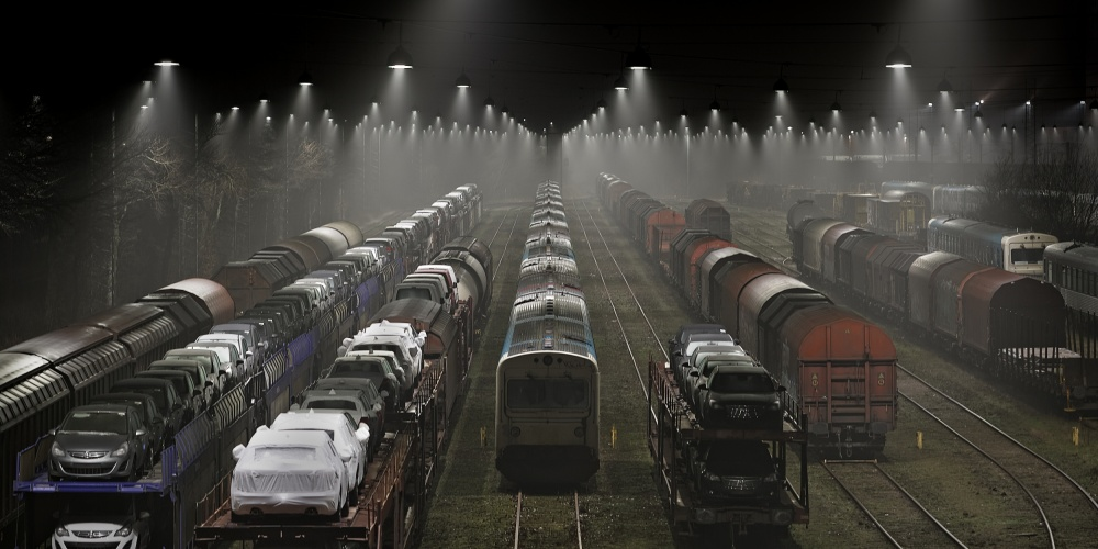 A piece of fine art art photography titled Trainsets by Leif Løndal