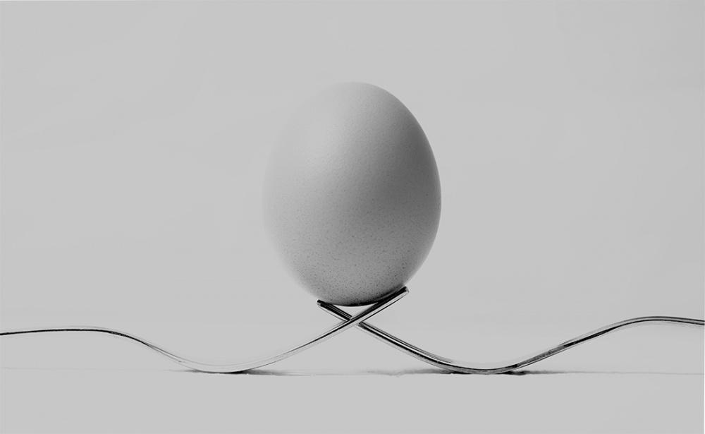 A piece of fine art art photography titled Egg 1 by Becze Gabor