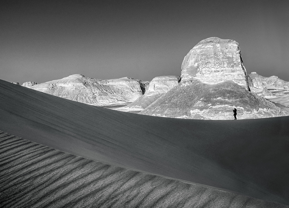 A piece of fine art art photography titled In the Desert by Nader El Assy
