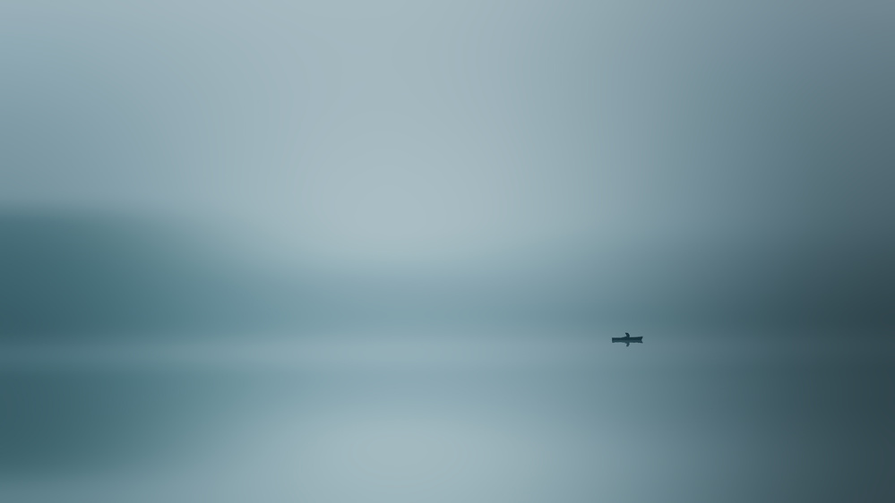 A piece of fine art art photography titled Silence at the Lake by Renate Wasinger