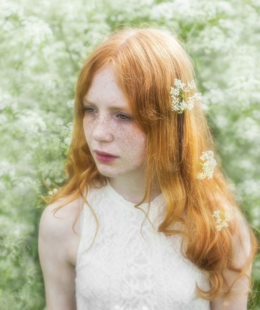 A piece of fine art art photography titled Sandra by Monica Elise Vestre
