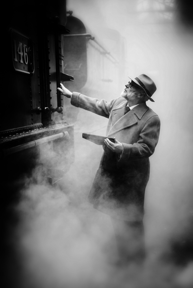 A piece of fine art art photography titled The Foreman by Richard Bland