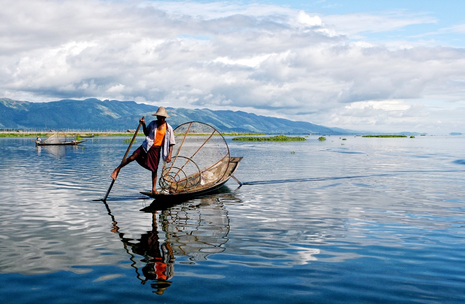 A piece of fine art art photography titled Fishing by nhattan