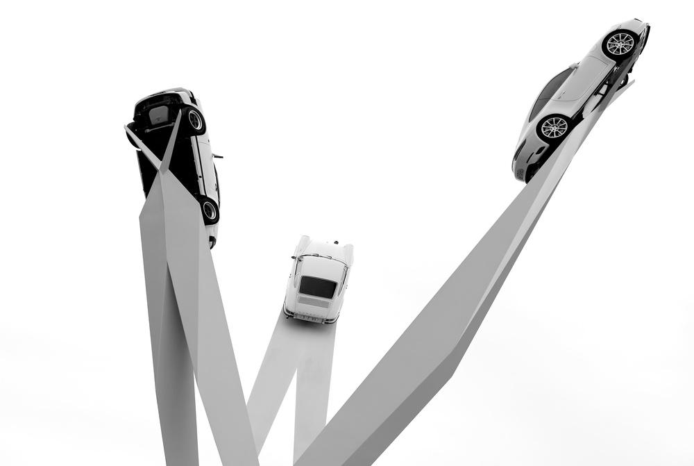 A piece of fine art art photography titled Porsche by Hans-Wolfgang Hawerkamp