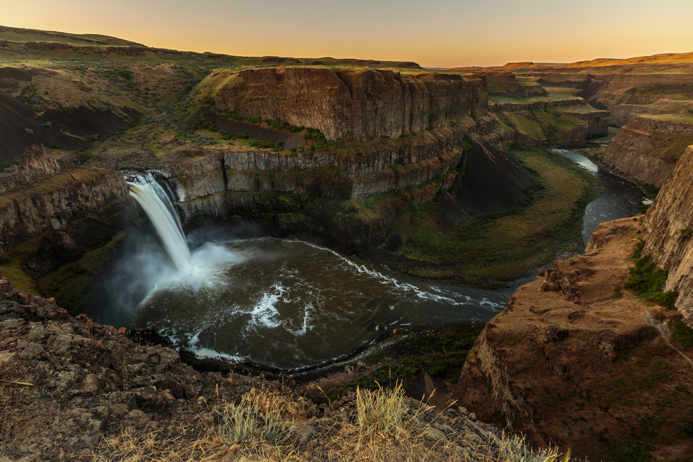 A piece of fine art art photography titled Palouse Gorge by Francois Roughol