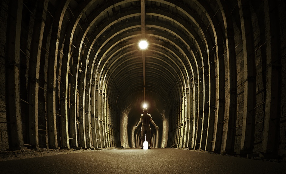 A piece of fine art art photography titled Endless Tunnel by Benoit Michelot