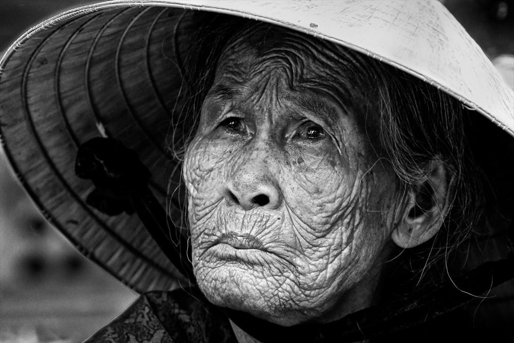 A piece of fine art art photography titled Market Lady by John Moulds