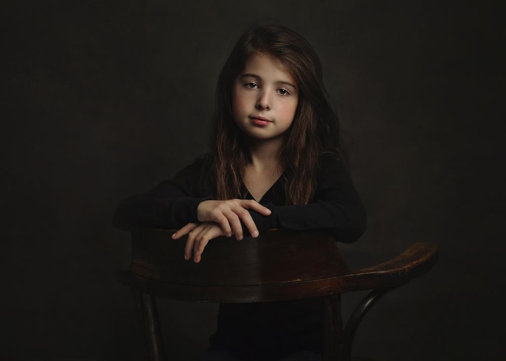 A piece of fine art art photography titled Portrait of Daughter by Monique