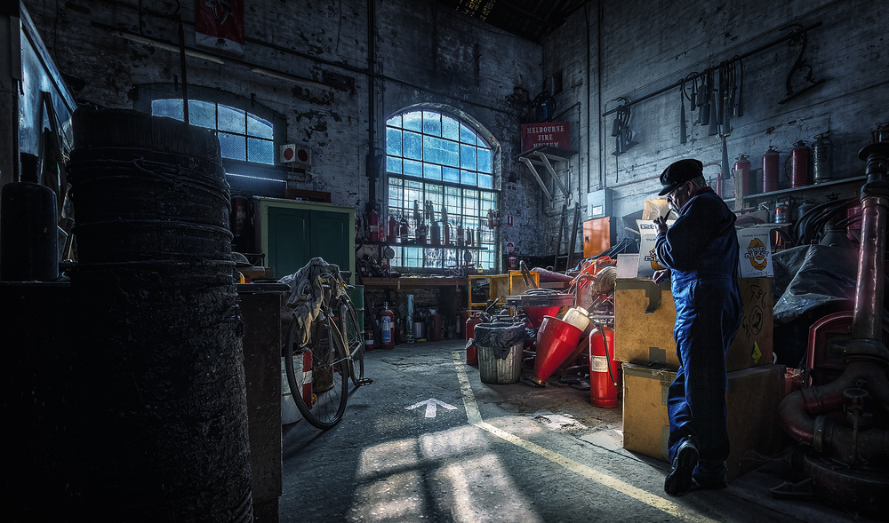 A piece of fine art art photography titled The Workshop by Adrian Donoghue