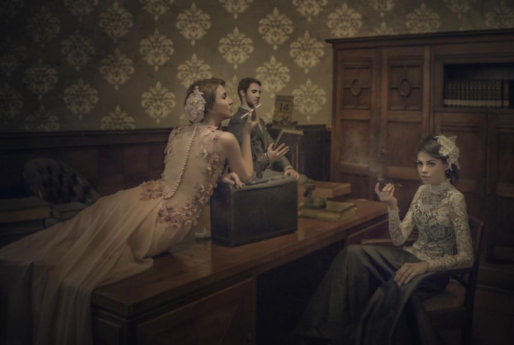 A piece of fine art art photography titled Smoking by Yamani Ahmad