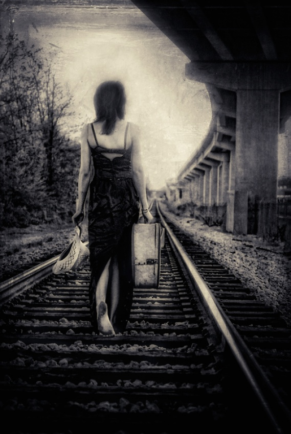 A piece of fine art art photography titled She Left a Week to Roam by alabama