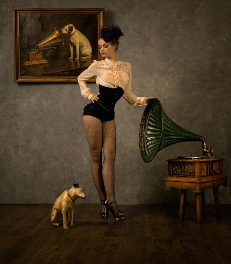 A piece of fine art art photography titled His Master's Voice by Peter Kemp