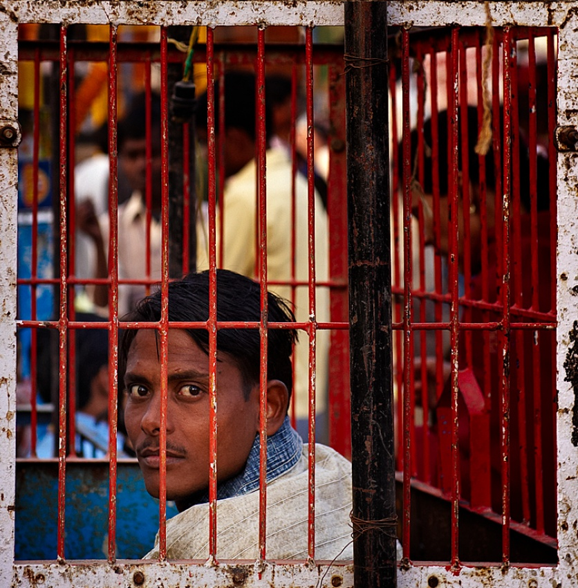 A piece of fine art art photography titled Life In the Same Old Cage by Prateek Dubey