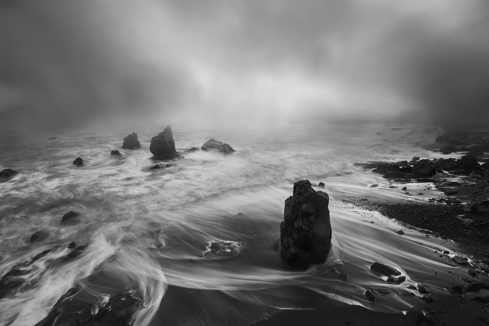 A piece of fine art art photography titled Rhyme of the Sea by Feng Zhou