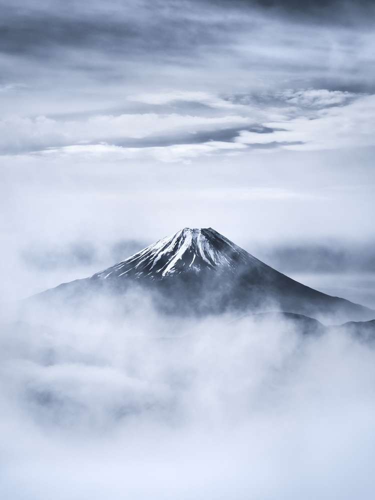 A piece of fine art art photography titled Fuji In Clouds by Takashi