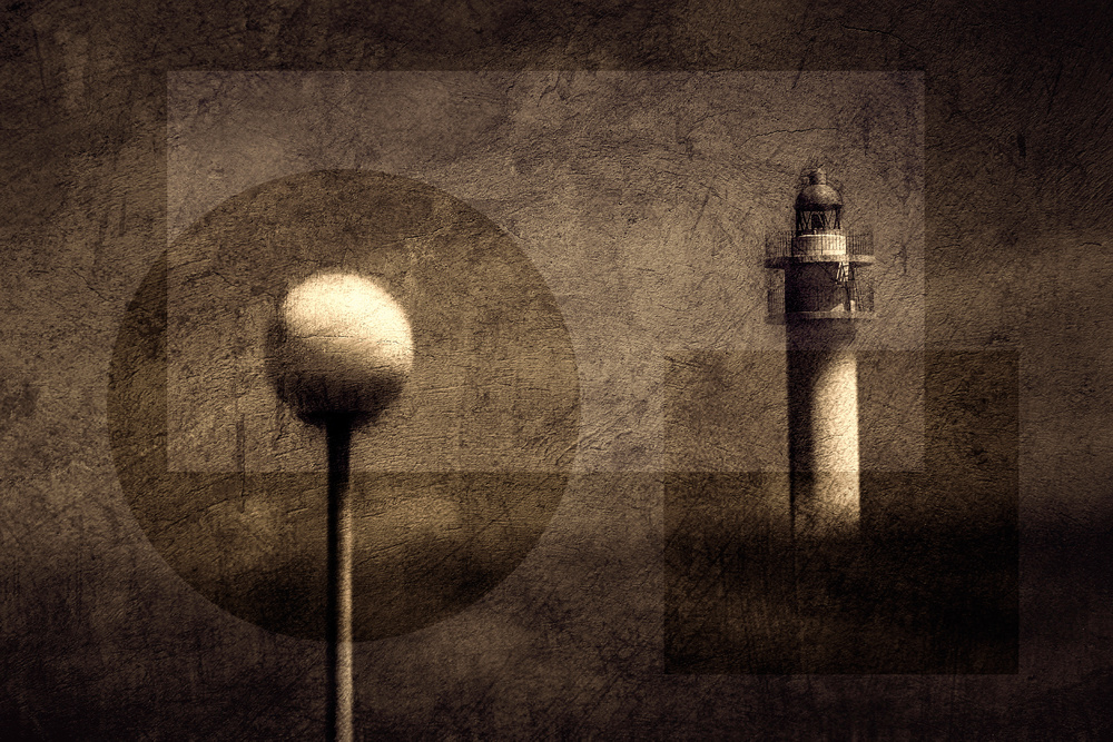 Lighthouse and Street lamp.