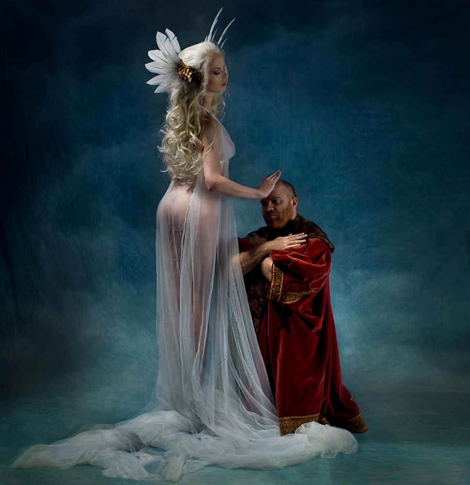 A piece of fine art art photography titled Bless by Peter Kemp