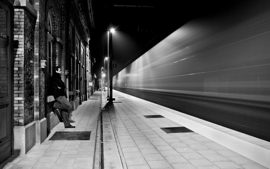 A piece of fine art art photography titled Last Passenger II by Tim Corbeel