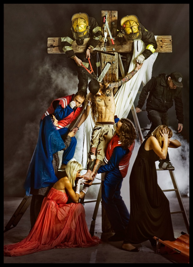A piece of fine art art photography titled Descent from the Cross by De Sousa