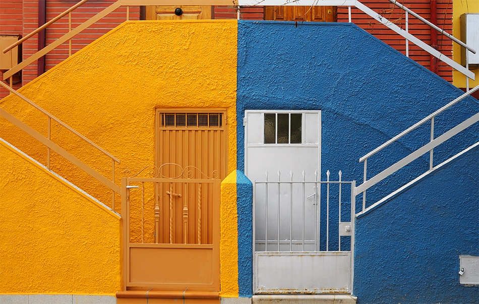 A piece of fine art art photography titled Two Doors by Cesar Bermudez