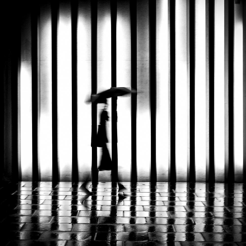 A piece of fine art art photography titled Wet Night by Tuncay Coşkun