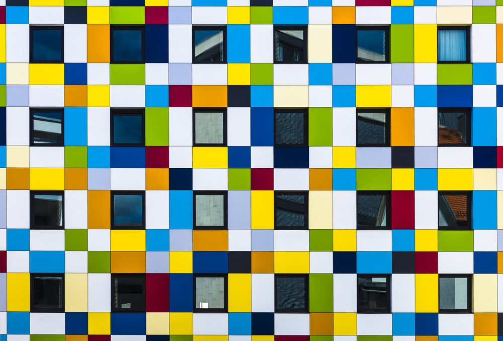A piece of fine art art photography titled Dedicated to Piet Mondrian, but Also 'De Stijl' by minimalist