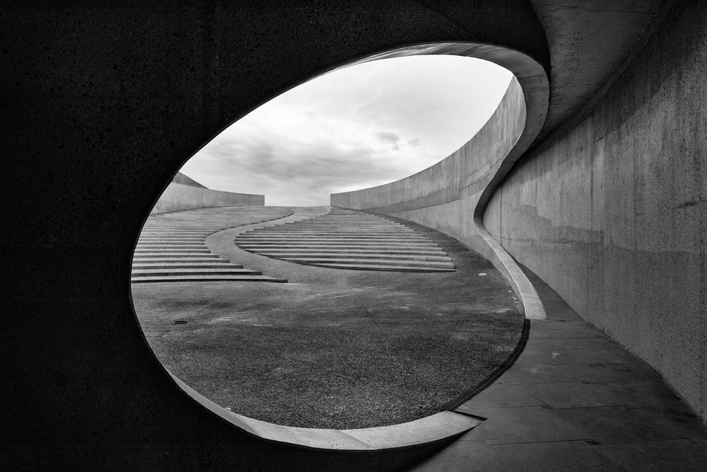 A piece of fine art art photography titled Kidney Shaped Pool by Bart Nelissen