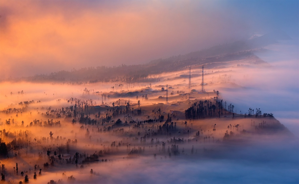 A piece of fine art art photography titled Sweet Dreams Beautiful Fog In Lawang Valley by Kowit.Lee