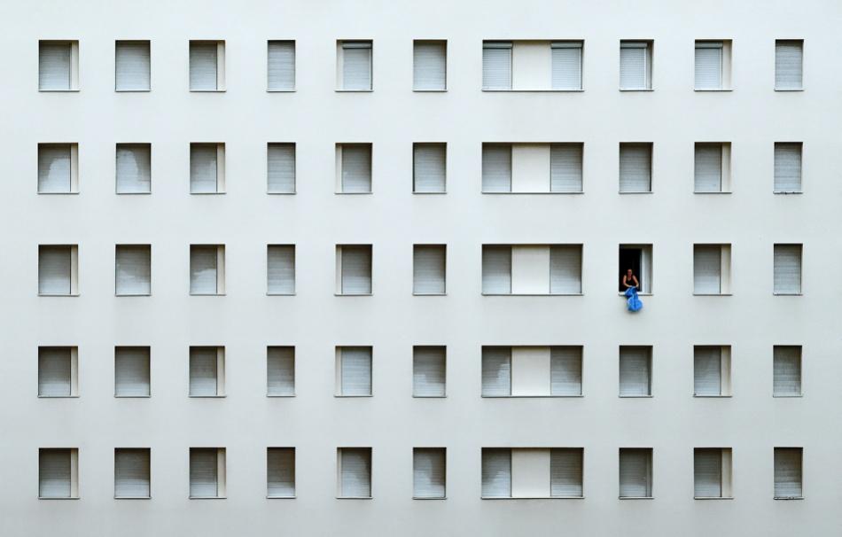 A piece of fine art art photography titled Feeling Blue by Matej Peljhan