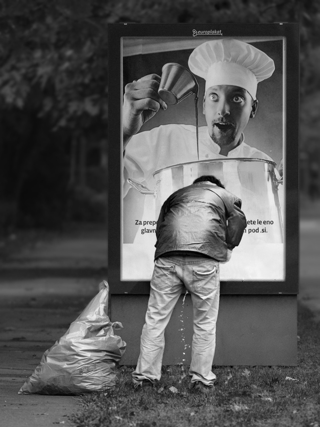 A piece of fine art art photography titled Power of Advertising by Matej Peljhan