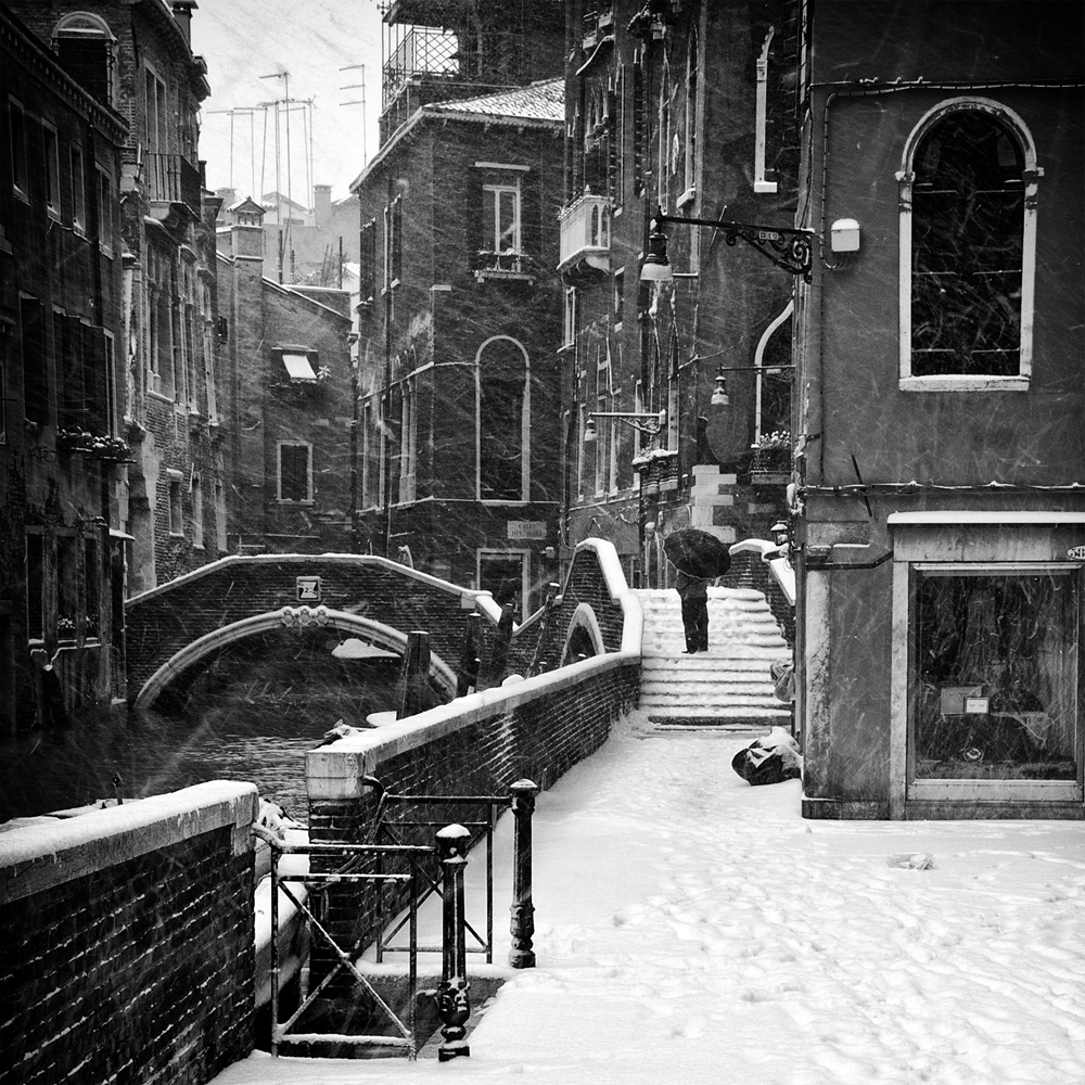 A piece of fine art art photography titled Snow by Enrico Facchetti