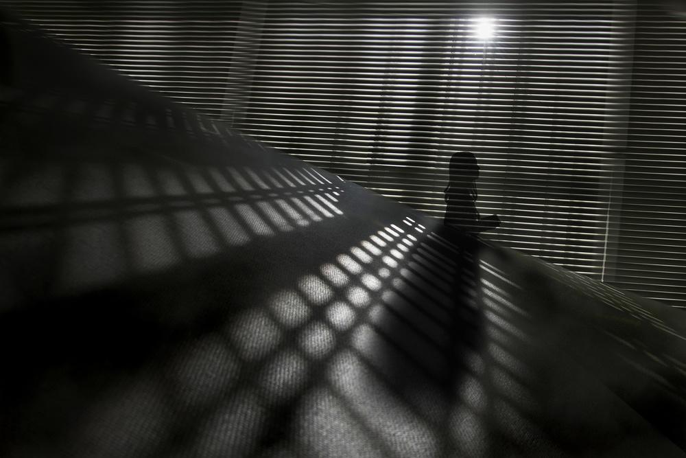 A piece of fine art art photography titled Behind the Secret Lines by Ekkachai Khemkum